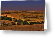 Harvested Fields Greeting Card
