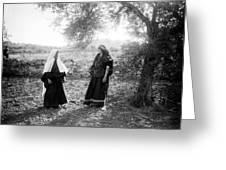 Harvesting Near Bethlehem Greeting Card
