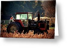 Harvesting The Fields  Greeting Card