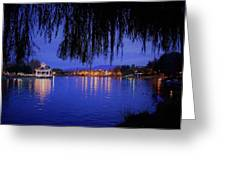 Harveston Lake At Night Greeting Card