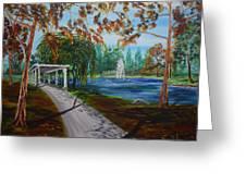 Harveston Lake Path Greeting Card