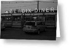 Hasbrouck Heights, Nj - Bendix Diner 3 Greeting Card