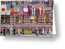 Hassam: Allied Flags, 1917 Greeting Card by Granger