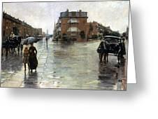 Hassam: Rainy Boston, 1885 Greeting Card