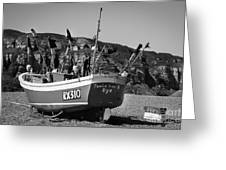 Hastings Boat 4 Greeting Card