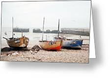 Hastings England Beached Fishing Boats Greeting Card