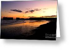 Hastings Harbour Arm At Sunset Greeting Card
