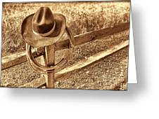 Hat And Lariat Greeting Card