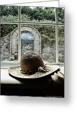 Hat In Window Greeting Card