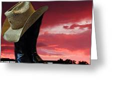 Hat N Boots 11 Greeting Card