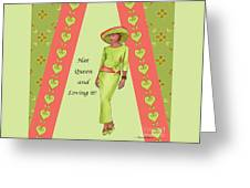 Hat Queen 1 Greeting Card