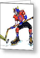 Hat Trick Hockey Player Greeting Card
