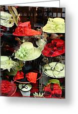 Hats In A Window Greeting Card