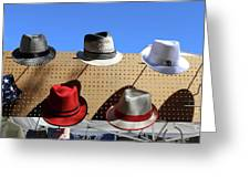 Hats Selection Day Dead  Greeting Card