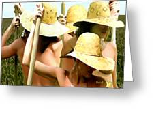 Hats.hands And Poles Greeting Card