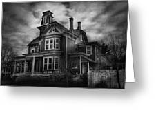 Haunted - Flemington Nj - Spooky Town Greeting Card