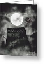 Haunted Dark Castle Greeting Card