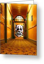 Haunted Hallway Greeting Card