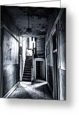 Haunted Hallway Greeting Card