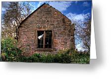 Haunted House Hdr Greeting Card