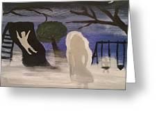 Haunted Playground  Greeting Card