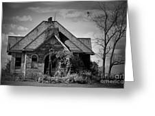 Haunted School House Greeting Card