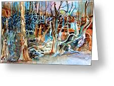 Haunted Swampland Greeting Card