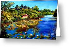 Hause By The Lake Greeting Card