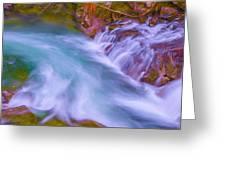 Torrent Waterfall 2 Greeting Card