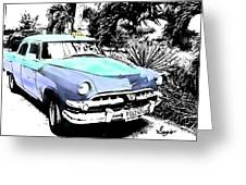 Havana Blues Greeting Card