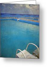 Havana Cuba Swimming Pool And Ocean Greeting Card