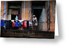 Havana Laundry No. 1 Greeting Card