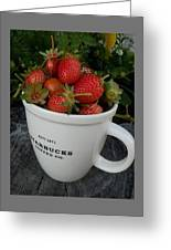Have A Cup Of Berries Greeting Card