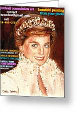 Have Your Portrait Painted Contact Carole Spandau 30 Years Experience Greeting Card