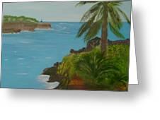 Hawaii Cliffs Greeting Card