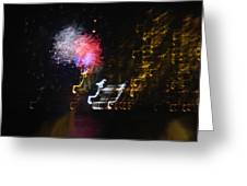 Hawaii Fireworks Greeting Card