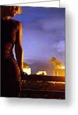 Hawaii Nights Self Portrait Greeting Card