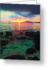 Hawaii Paddler Greeting Card