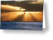 Hawaii Sunset Panorama Greeting Card