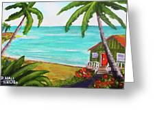 Hawaii Tropical Beach Art Prints Painting #418 Greeting Card