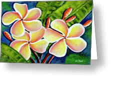 Hawaii Tropical Plumeria  Flower #314 Greeting Card
