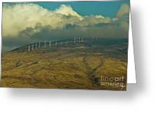 Hawaii Windmills On Maui One Greeting Card