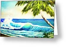 Hawaiian Beach Wave #420 Greeting Card