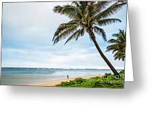Hawaiian Boy Fishing Greeting Card