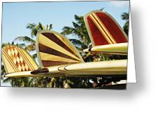 Hawaiian Design Surfboards Greeting Card by Vince Cavataio - Printscapes