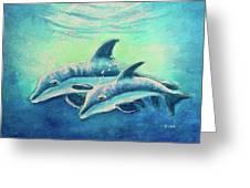 Hawaiian Dolphins  #389 Greeting Card