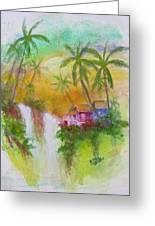 Hawaiian Homestead In The Valley #460 Greeting Card