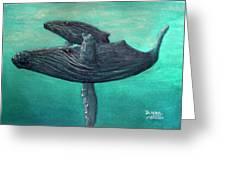Hawaiian Humpback Whales #455 Greeting Card