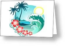 Hawaiian Island 2 Greeting Card