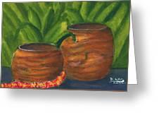 Hawaiian Koa Wooden Bowls #426 Greeting Card
